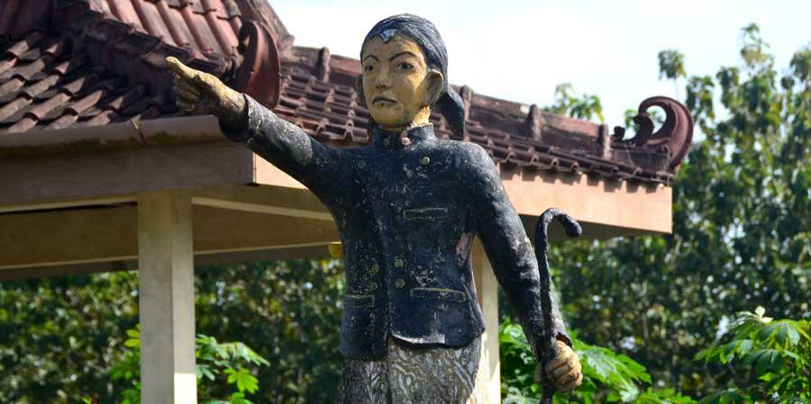 Patung Demang Wanapawira di Piyaman Wonosari. KH/WG