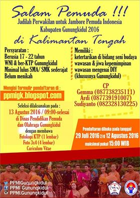 Informasi kegiatan JPI Gunungkidul. doc. PPMI Gunungkidul