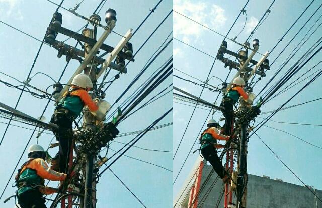 Perbaikan jaringan listrik oleh petugas PLN. Sumber: PLN