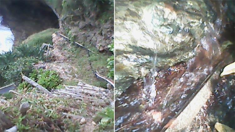 Kondisi sumber air Cluwak'an di Desa Tepus. KH