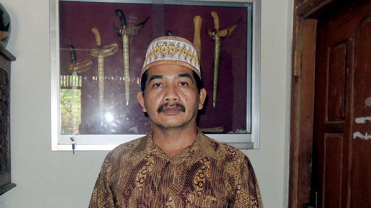 Dwi Cahyo Hudoyono, ketua MLKI Gunungkidul, ia merupakan salah satu ketua paguyuban, yaitu organisasi Mardi Santosaning Budhi. KH/ Kandar