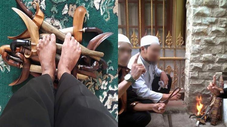 Tindakan provokasi terhadap Keris Indonesia yang telah diakui oleh UNESCO. foto: doc. Unggul Sudrajat.