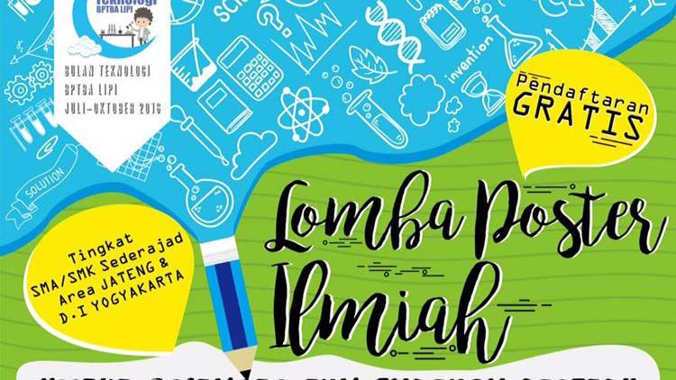 Informasi lomba Poster BPTBA LIPI.