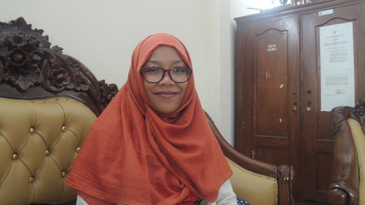 Ria Silviani, peraih Predikat Terbaik Ke-3 Nasional pemuda Pelopor Bidang Pendidikan. KH/ Kandar