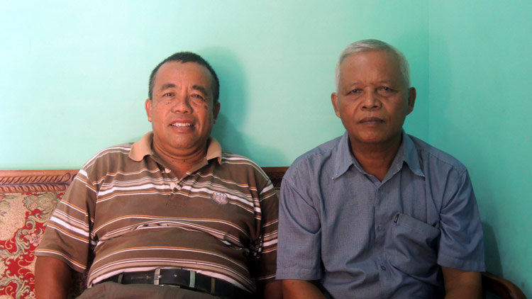 Ketua, Pur Sukiran dan Sekretaris Pagguyuban Pedagang Bakmi Jawa Piyaman, Sugito. KH/ Kandar