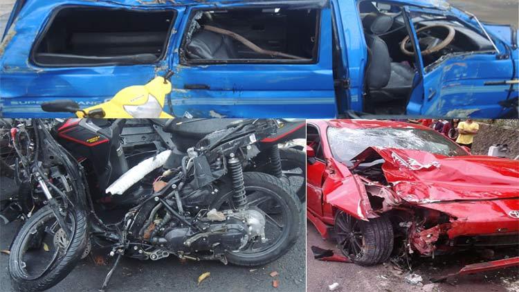 kondisi kendaraan yang terlibat kecelakaan maut pada Selasa, (1/11) malam dan kecelakaan lainnya pada Rabu, (2/11) pagi. KH/ Kandar