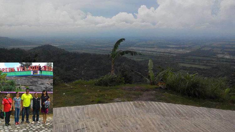 View pemandangan puncak GVG. insert: peninjauan ke GVG.