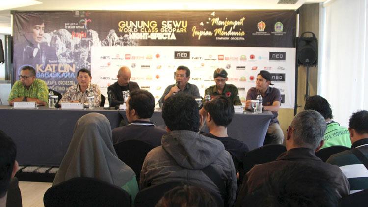 Press Conference di salah satu hotel Yogyakarta. KH/ Bara