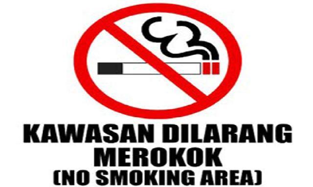 Himbauan larangan merokok. sumber: internet