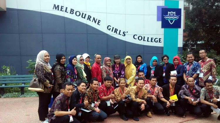 Ari Sulistyo, GTT SMPN Tepus peraih beasiswa singkat saat berada di Australia.