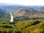 Visual Delta Kedung Wanglu dari kejauhan, Pinggir Sungai Oya