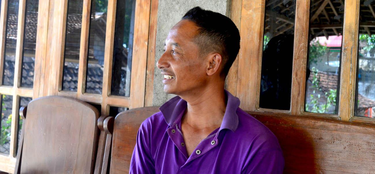 Pak Sukidi, Ketua Kelompok Petani Garam 'Dadap Makmur'.[Foto:NR]