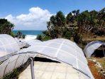 Terowongan-terowongan tempat produksi garam di Pantai Dadap Ayam Kalurahan Kanigoro
