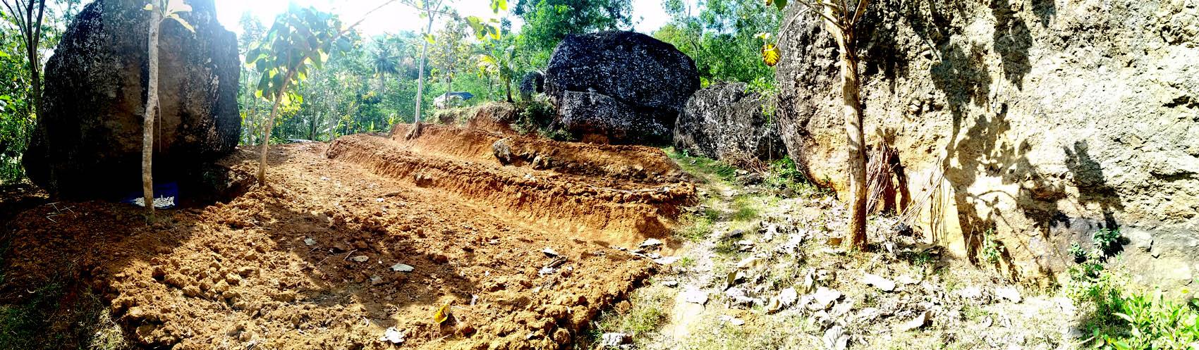 Lahan pertanian di Dusun Glompong.[Foto:NR]