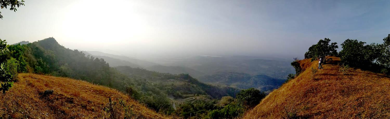 Pemandangan di Gunung Sumilir Sisi Utara.[Foto:nr]