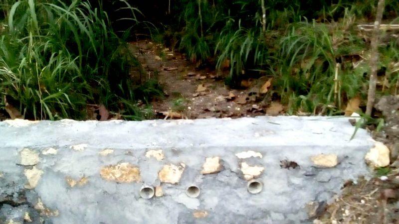 Salah satu embung mini yang dibuat oleh Yanto untuk memanen air hujan musim mendatang