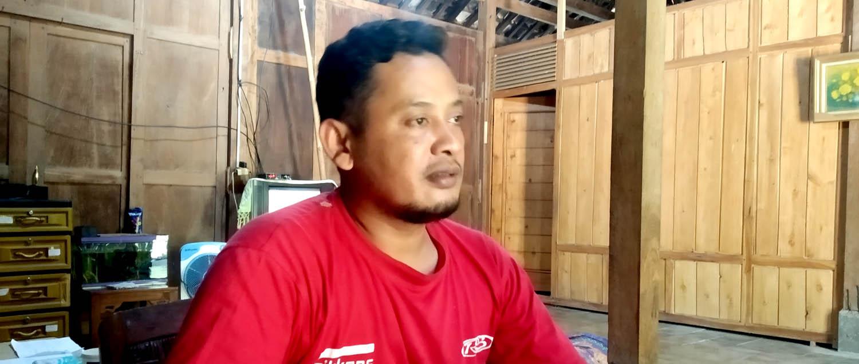 Sofyan Effendi, seorang pegiat di Kelompok Prambutan Indah.[Foto:NR]