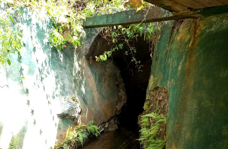 Penampakan-samping Sumber Air Gunung Sari Bumi.[Foto:Padmo]