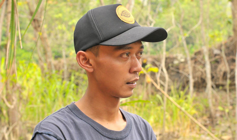 Gani, Pegiat Konservasi di Sampang.[Foto:NR]